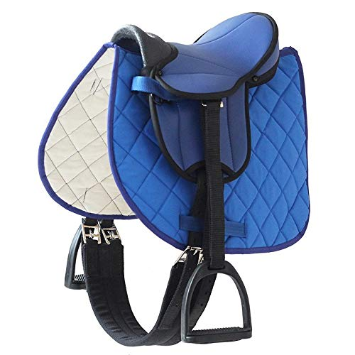 Selle bleue german riding pour poney