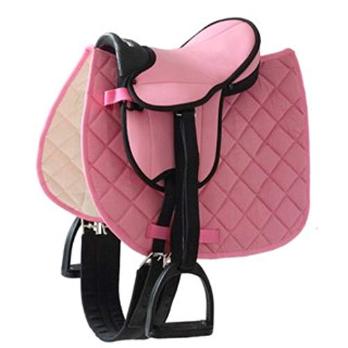 Selle rose german riding pour poney