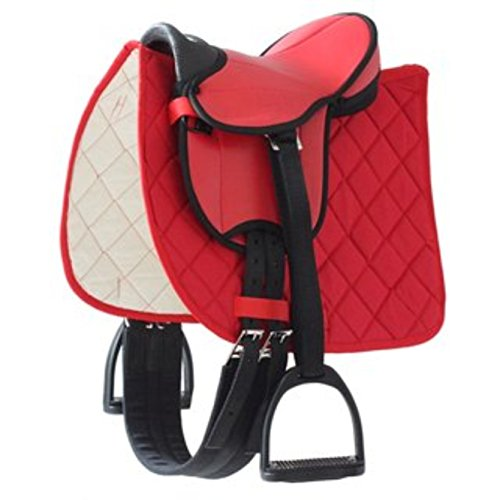 Selle rouge german riding pour poney
